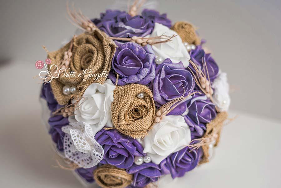 bouquet sposa ultra violet pantone 2018