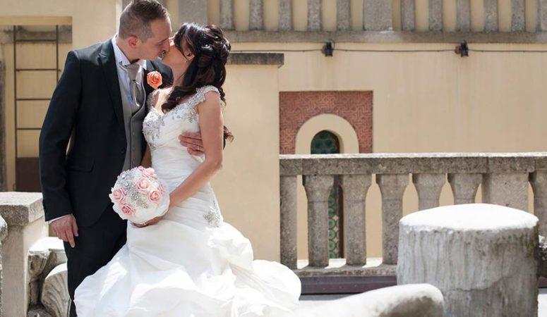 Il matrimonio bianco e rosa di Sara e Mirko