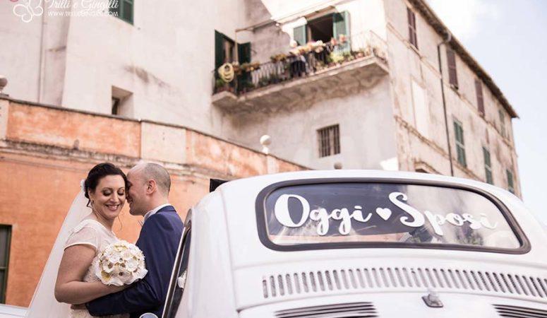 Il matrimonio a tema margherite country chic di Simona e Daniele