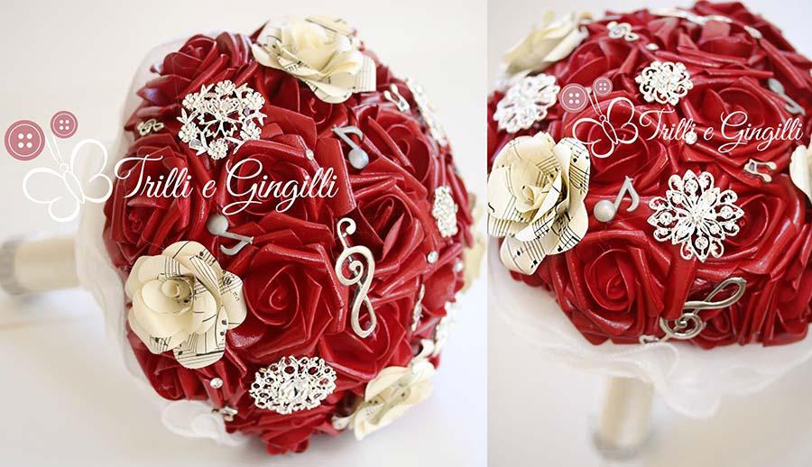 bouquet matrimonio tema musica