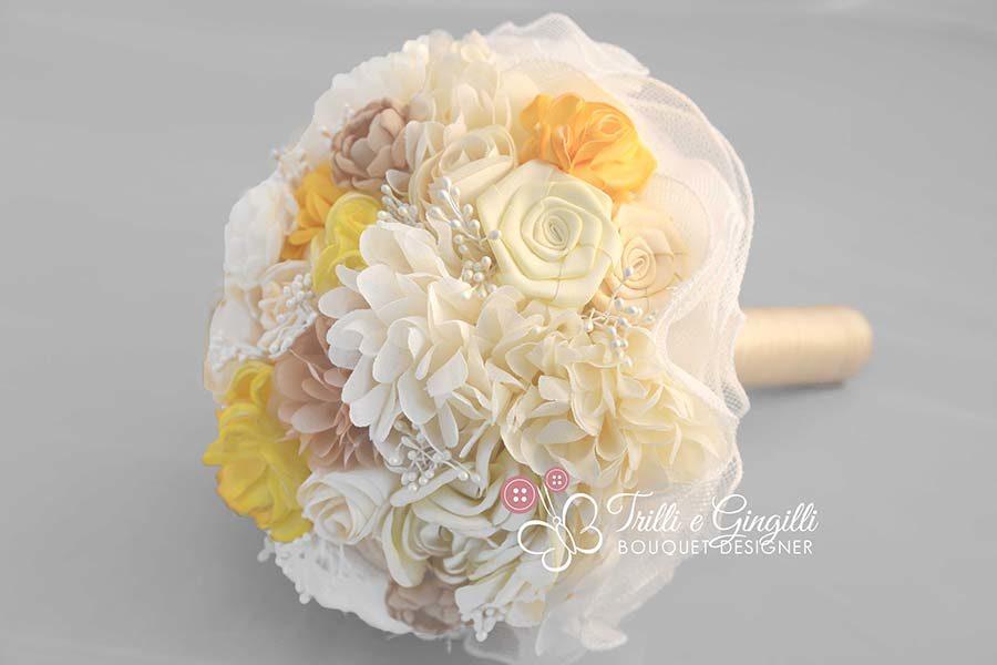 bouquet fiori di seta stoffa