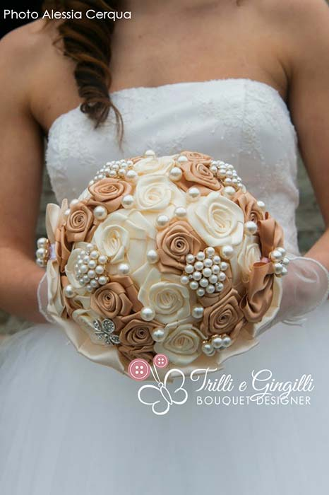 bouquet sposa fiori seta