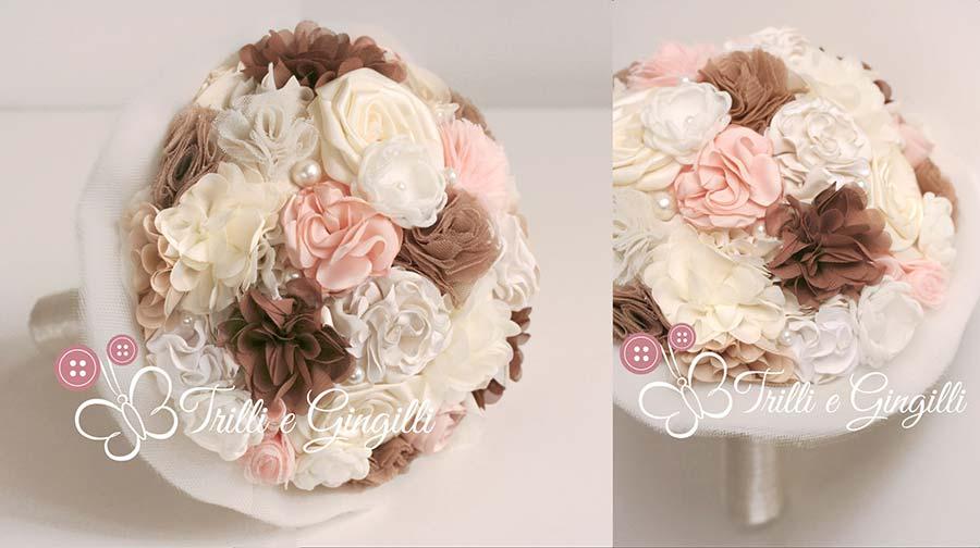 bouquet sposa stoffa seta