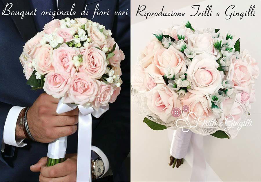 copia bouquet sposa finto
