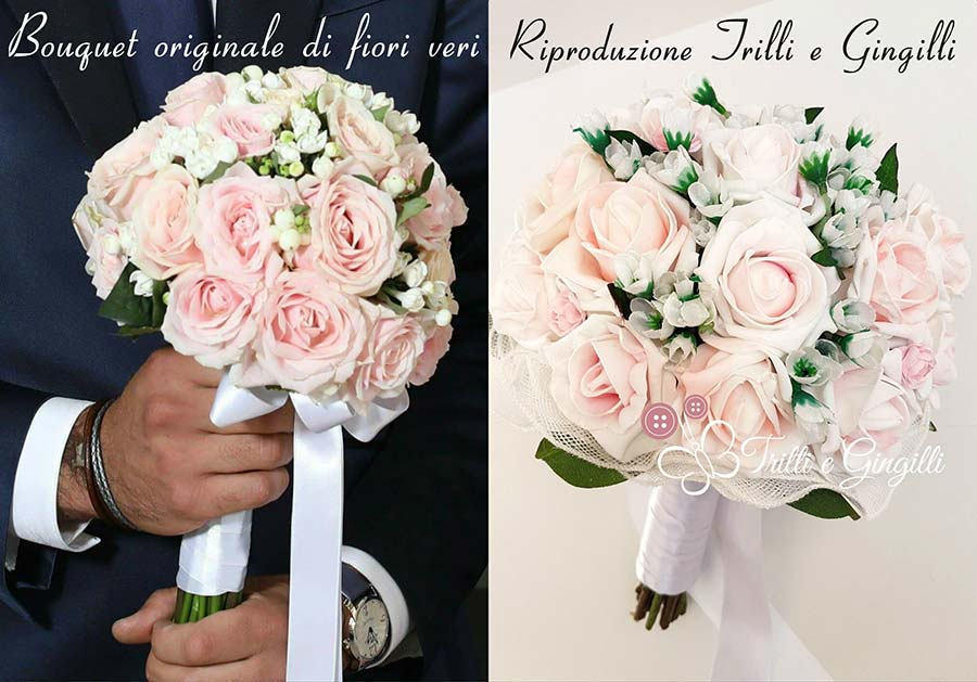 copia bouquet sposa finto