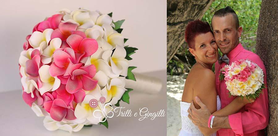 riproduzione bouquet sposa finto
