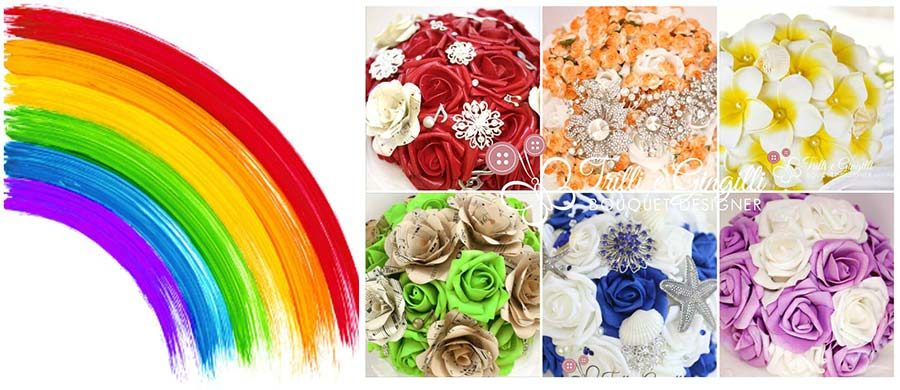 bouquet arcobaleno damigelle