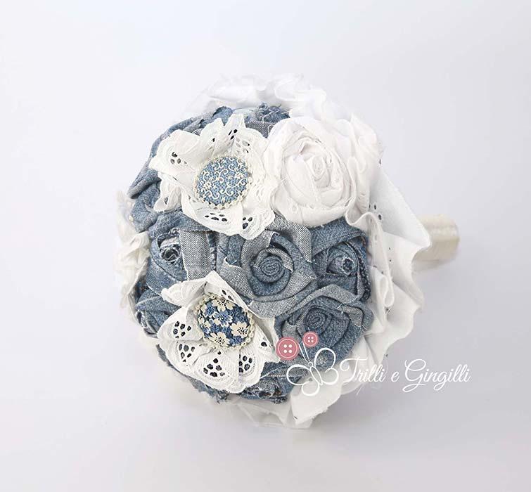 bouquet sposa azzurro jeans