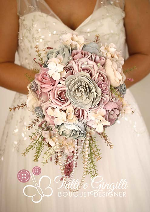 bouquet sposa moderno a goccia