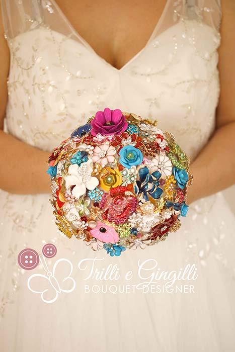 bouquet sposa moderno gioiello