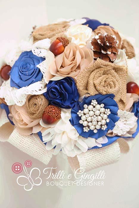 bouquet sposa moderno stoffa
