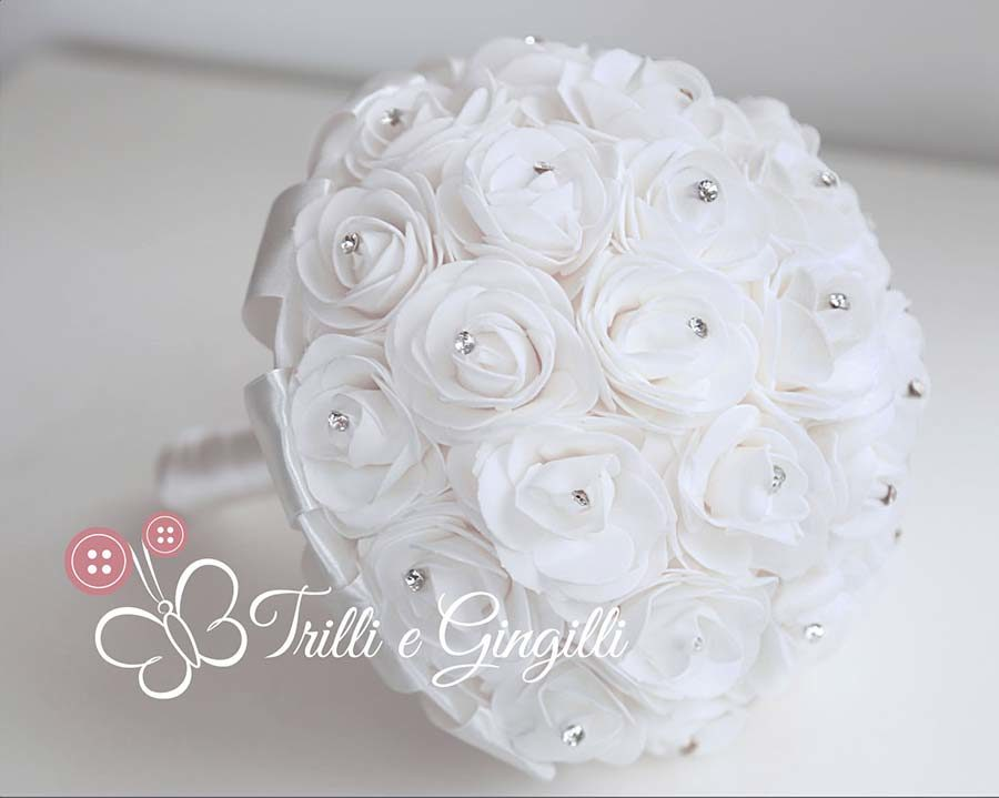 bouquet sposa rose bianche punti luce