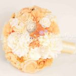 bouquet arancione stoffa