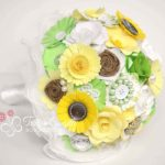 bouquet carta giallo verde