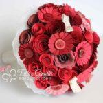 bouquet carta rosso