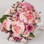 bouquet fiori finti rosa