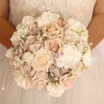 bouquet fiori finti rose peonie