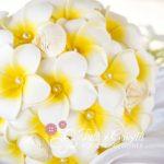 bouquet frangipani tema mare conchiglie