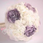 bouquet peonie e rose lilla