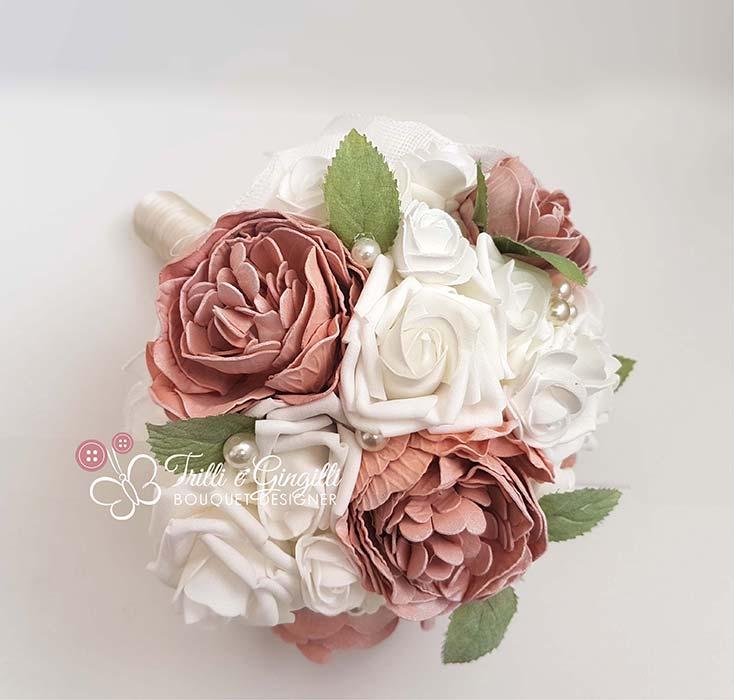 bouquet peonie rosa antico