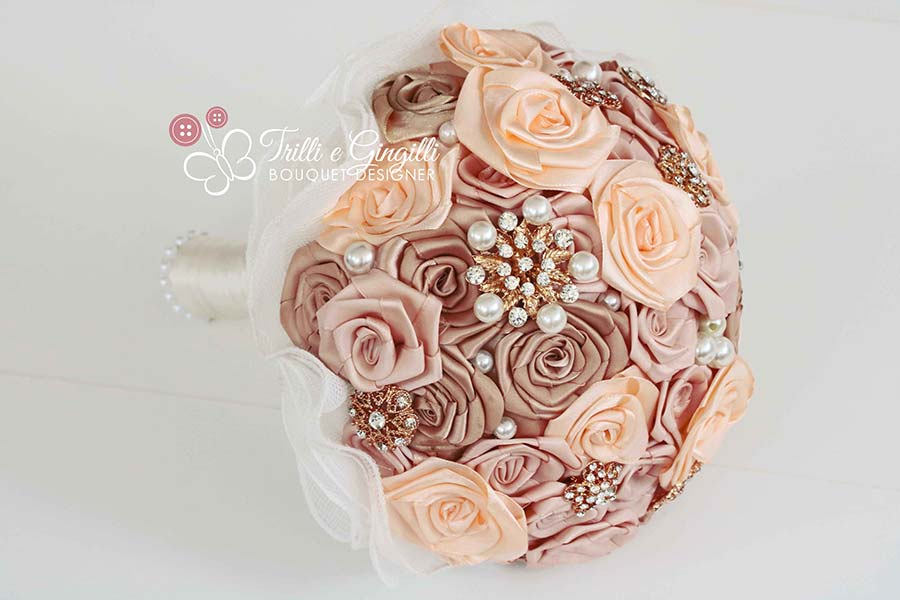 bouquet rose raso rosa