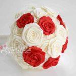 bouquet rose raso rosso