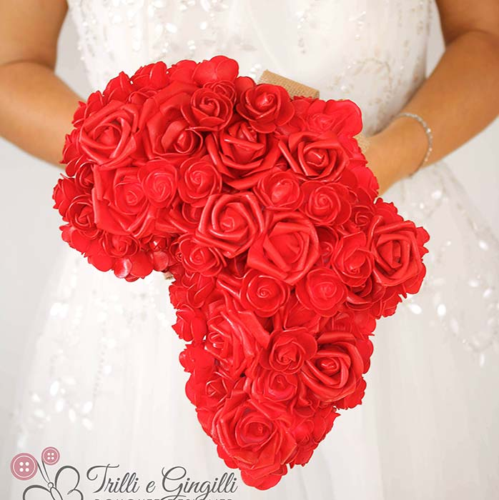 bouquet rose rosse africa