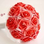 bouquet di rose rosse e strass