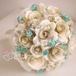 bouquet sposa carta spartiti musicali tiffany