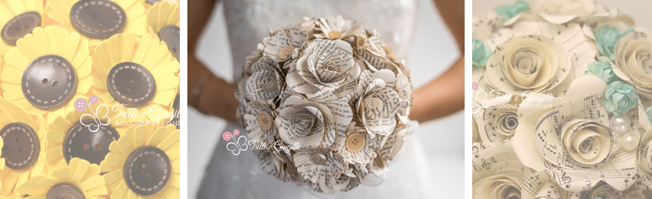 bouquet sposa di carta