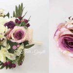 bouquet sposa fiori finti bottoniera