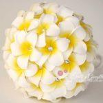 bouquet sposa frangipani strass