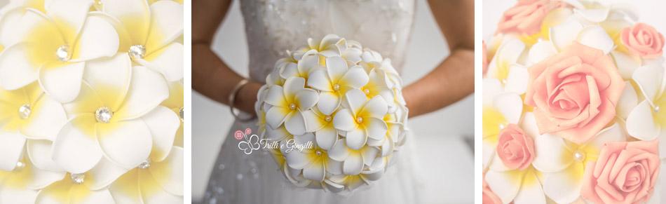 bouquet sposa frangipani