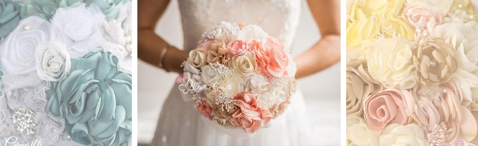 bouquet sposa stoffa tessuto