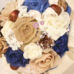 bouquet sposa tessuto tema bosco