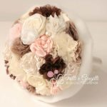 bouquet stoffa rosa marrone