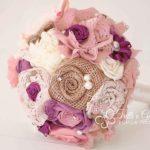 bouquet stoffa viola