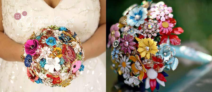 copia bouquet sposa spille