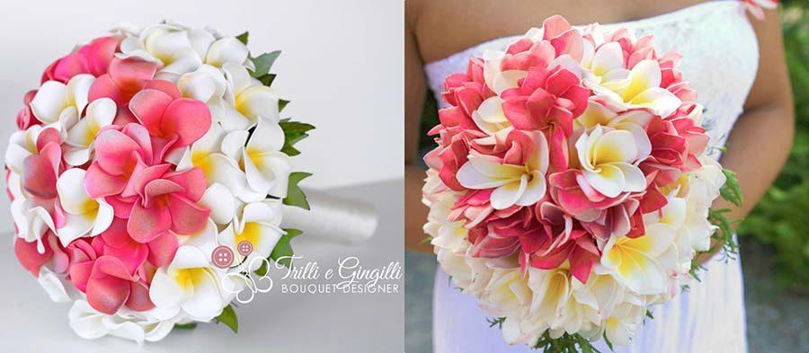 riproduzione bouquet fiori tropicali