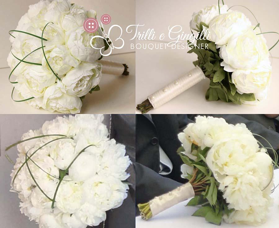 riproduzione bouquet peonie bianche