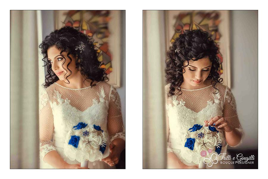 sposa bouquet tema mare