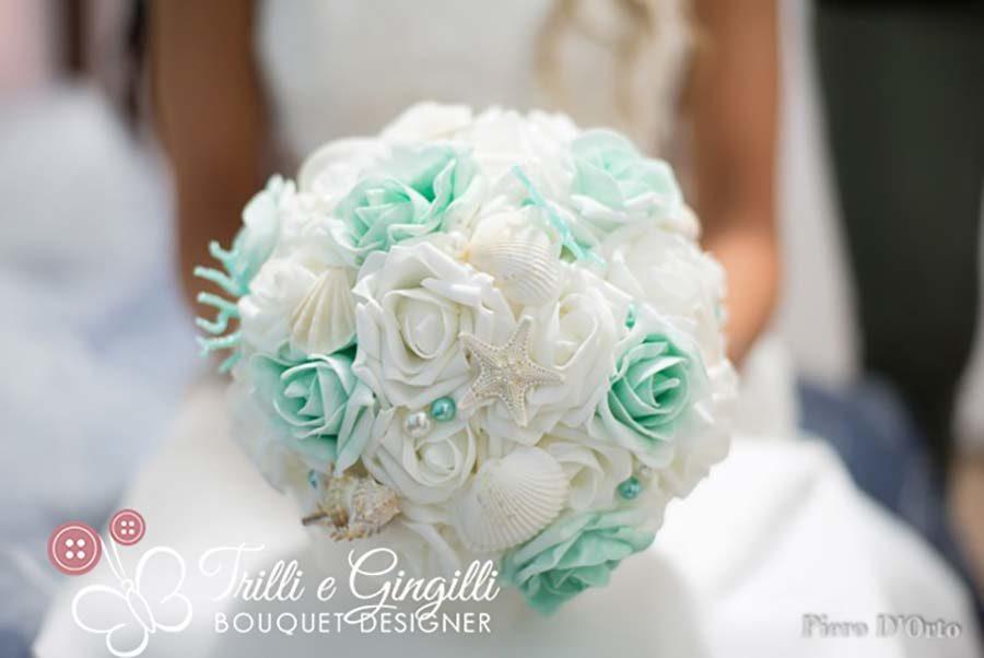 Bouquet Sposa Mare.Matrimonio Tema Mare Foto E Idee Per Delle Nozze Perfette