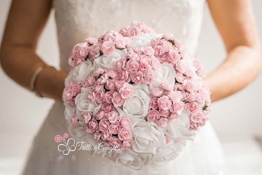 bouquet matrimonio romantico rose