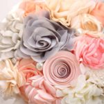 Bouquet mix stoffa avorio e rosa