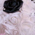 Bouquet bianco e nero gioiello