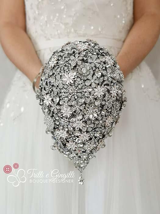 Bouquet a cascata gioiello