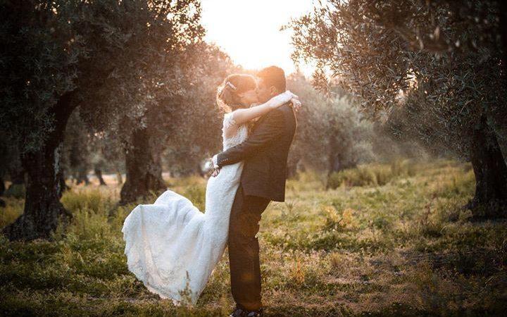 Il matrimonio shabby e rosa di Stella e Domenico