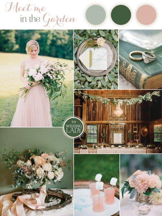matrimonio rosa cipria e verde