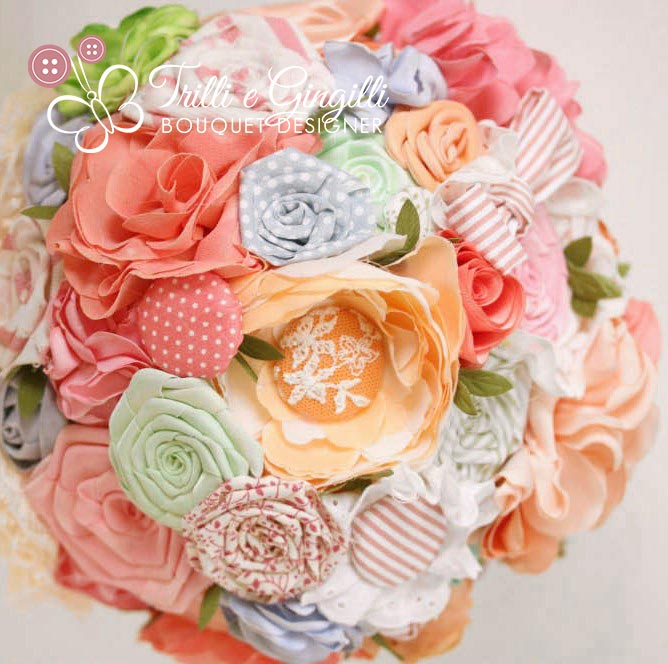 Fabric Bouquet multicolor