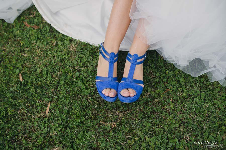 scarpe sposa blu